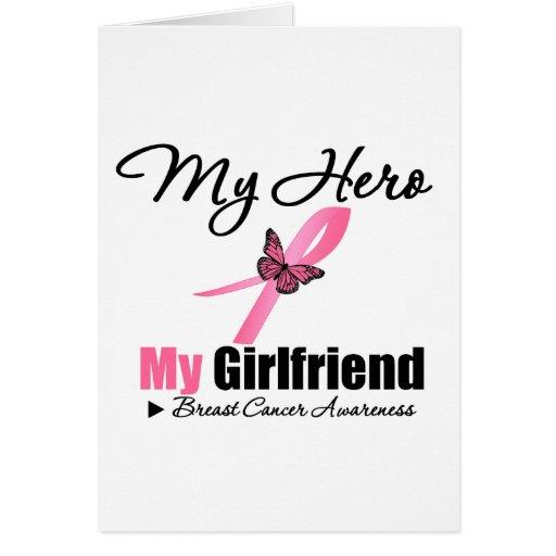 Cáncer de pecho mi héroe mi novia tarjeton