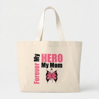 Cáncer de pecho para siempre mi héroe mi mamá bolsa