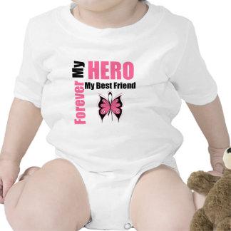 Cáncer de pecho para siempre mi héroe mi mejor ami camiseta