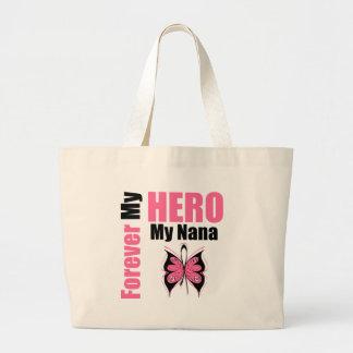Cáncer de pecho para siempre mi héroe mi Nana Bolsas Lienzo