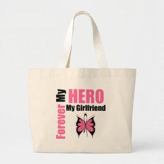 Cáncer de pecho para siempre mi héroe mi novia bolsas de mano