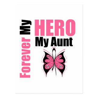 Cáncer de pecho para siempre mi héroe mi tía tarjeta postal
