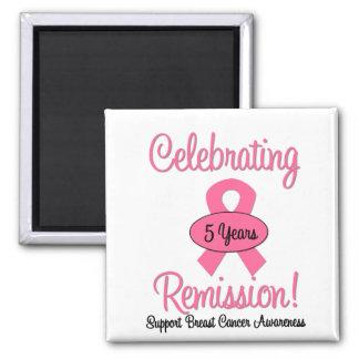 Cáncer de pecho remisión de 5 años imán cuadrado