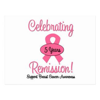 Cáncer de pecho remisión de 5 años tarjeta postal