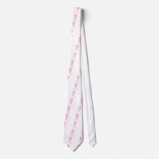 Cáncer de pecho rosado de la cinta 2 corbata personalizada