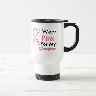 Cáncer de pecho rosado de la cinta de la hija taza térmica