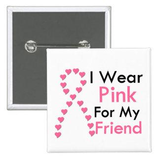 Cáncer de pecho rosado de la cinta del amigo pin