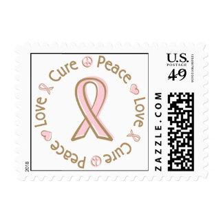 Cáncer de pecho rosado de la curación del amor de sellos