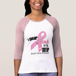 Cáncer de pecho rosado de la hermana de la cinta camiseta