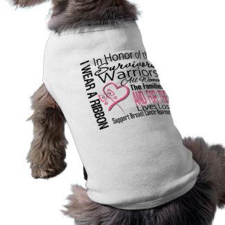 Cáncer de pecho rosado del collage del tributo de  camisetas de mascota
