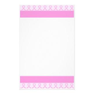 Cáncer de pecho rosado dulce de la cinta sin forro papeleria personalizada