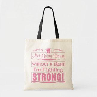 Cáncer de pecho soy el luchar fuerte bolsas lienzo