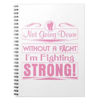 Cáncer de pecho soy el luchar fuerte libros de apuntes con espiral