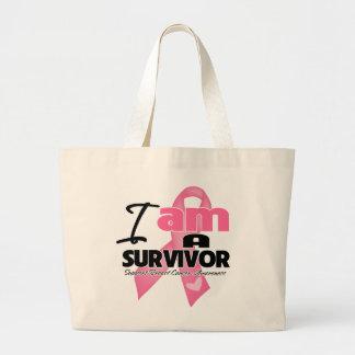 Cáncer de pecho - soy un superviviente bolsas de mano