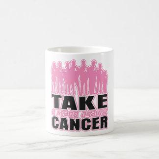 Cáncer de pecho - tome un soporte contra cáncer taza de café