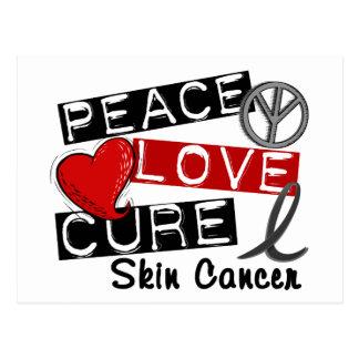 Cáncer de piel de la curación del amor de la paz tarjeta postal