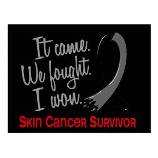 Cáncer de piel del superviviente 11 postal
