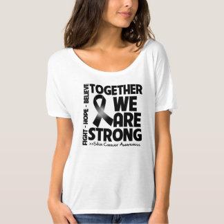Cáncer de piel juntos somos Strong.png Playera