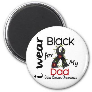 Cáncer de piel llevo el negro para mi papá 43 imanes para frigoríficos