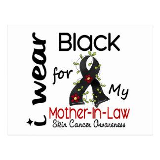 Cáncer de piel llevo el negro para mi suegra 43 tarjeta postal