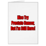 Cáncer de próstata agradable del intento. tarjetón
