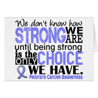 Cáncer de próstata cómo es fuerte somos tarjeta de felicitación