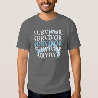 Cáncer de próstata del collage del superviviente remera