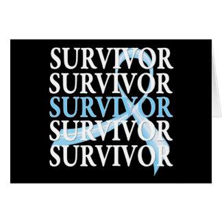 Cáncer de próstata del collage del superviviente tarjeta de felicitación