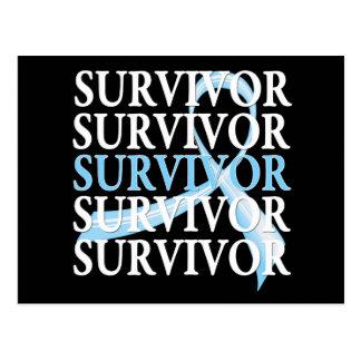 Cáncer de próstata del collage del superviviente postal