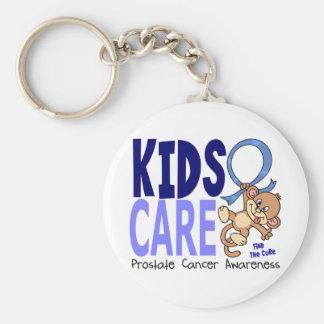 Cáncer de próstata del cuidado 1 de los niños llavero