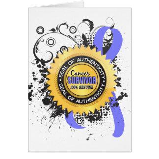 Cáncer de próstata del superviviente 23 del cáncer tarjeta de felicitación