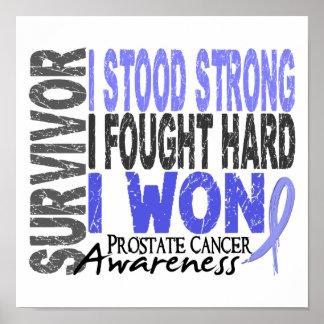 Cáncer de próstata del superviviente 4 póster
