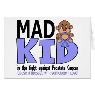 Cáncer de próstata enojado del niño tarjeta de felicitación