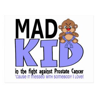 Cáncer de próstata enojado del niño tarjetas postales