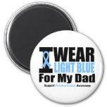 Cáncer de próstata llevo azul claro para mi papá imán para frigorífico