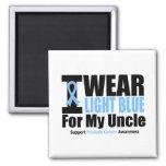 Cáncer de próstata llevo azul claro para mi tío imán para frigorifico