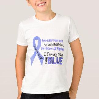 Cáncer de próstata llevo orgulloso 1 azul claro playera
