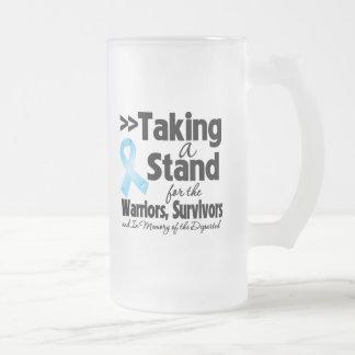 Cáncer de próstata que toma un tributo del soporte tazas de café