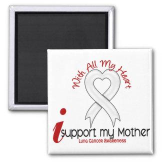 Cáncer de pulmón apoyo a mi madre imán cuadrado