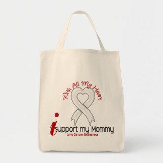 Cáncer de pulmón apoyo a mi mamá bolsas lienzo