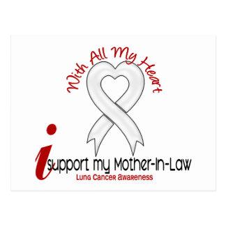 Cáncer de pulmón apoyo a mi suegra tarjeta postal