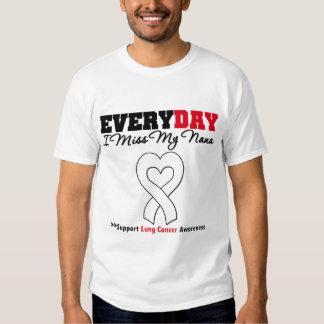Cáncer de pulmón cada Srta. My Nana del día I Camisas