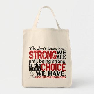 Cáncer de pulmón cómo es fuerte somos bolsa tela para la compra