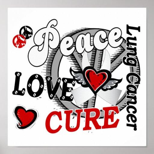 Cáncer de pulmón de la curación 2 del amor de la p poster