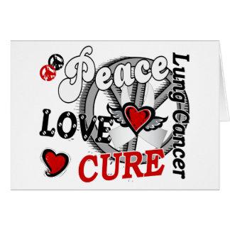 Cáncer de pulmón de la curación 2 del amor de la p tarjetón