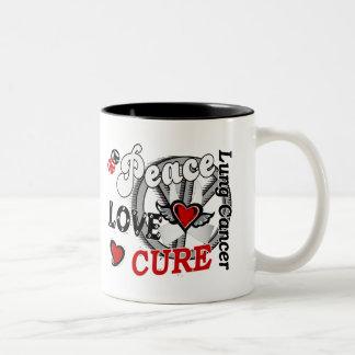 Cáncer de pulmón de la curación 2 del amor de la taza dos tonos