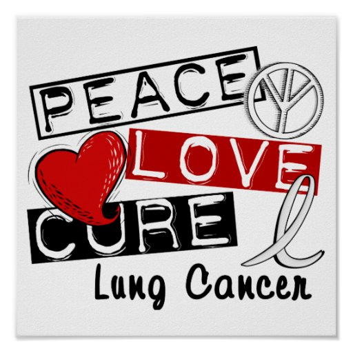 Cáncer de pulmón de la curación del amor de la paz poster