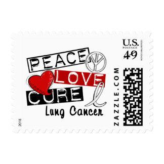Cáncer de pulmón de la curación del amor de la paz franqueo