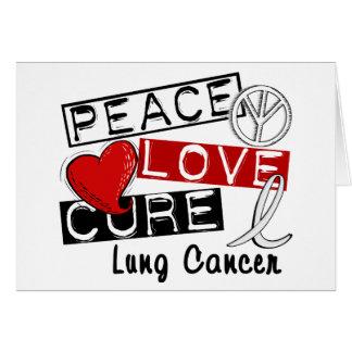 Cáncer de pulmón de la curación del amor de la paz tarjeton