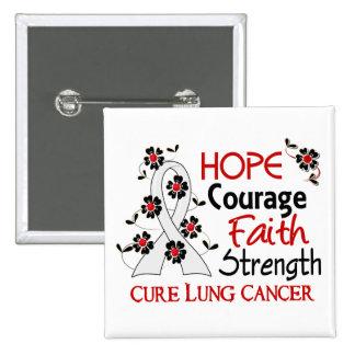 Cáncer de pulmón de la fuerza 3 de la fe del valor pin